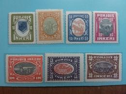 INGRIA 1920 - Soggetti Vari Nn. 8/14 Nuovi ** (1 Valore *) + Spedizione Prioritaria - Finlandia