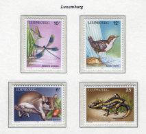 Fauna Europe C84 Luxembourg 1987 MNH 4v CV 7,50 Eur Dragonfly Birds Lizard - Unclassified
