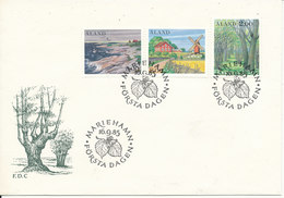 Aland FDC 16-9-1985 Country Scenes Complete Set Of 3 With Cachet - Aland