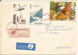 Poland Registered Cover Sent Air Mail To Netherlands Szczecin 17-1-1978 Topic Stamps Incl. BUTTERFLY - 1944-.... Republic