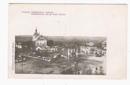 Rohatyn Srodmiescie I Cerkiew Feldpost 1916 OLD POSTCARD 2 Scans - Ukraine