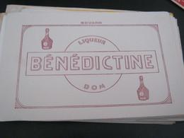 BUVARD PUBBLICITARIA BENEDICTINE - Liquor & Beer