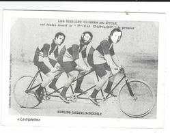 Carte Photo Montage Publicité Pour M LAGET Paris Achète Journaux Triplette Kuhling Jacquelin Denesle Pneu Dunlop - Werbepostkarten