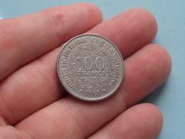 1968 Afrique Ouest Africaine - 100 Franc ( KM 4 ) Uncleaned ! - Autres – Afrique