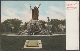 Kings Fountain, Washington Park, Albany, New York, C.1905 - Leighton U/B Postcard - Albany