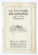 ARGENTEUIL CATALOGUE PUBLICITAIRE ASPERGES & FRAISIERS 1928 - Publicités
