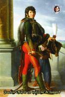 Carte Postale, Militaria, Napoleon, French Comanders Napoleonic Wars ,  Murat En Uniforme De Hussard - Militaria