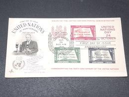 NATIONS UNIES - Enveloppe FDC En 1959 - L 20615 - New-York - Siège De L'ONU