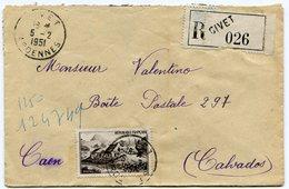 ARDENNES De GIVET   Env. Recom. De  1951  Avec Dateur  A 6 - Postmark Collection (Covers)