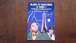 CARTE POSTALE  BLAKE ET MORTIMER A PARIS ! CARTE PUBLICITAIRE POUR L'EXPO    JACOBS - Blake Et Mortimer
