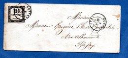 Taxe / N 2 / 10 Centimes Noir / Sur Enveloppe - Postage Due