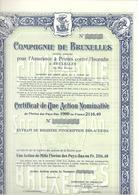 Compagnie De Bruxelles - 1915 - Banque & Assurance