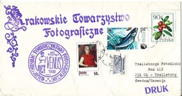 Poland Cover Sent To Sweden With Topic Stamps - 1944-.... Republic