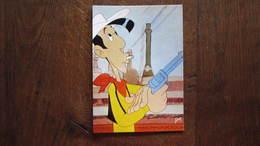 CARTE POSTALE LUCKY LUKE ET SES COMPAGNONS  LUCKY LUKE TIRE AVEC SON COLT - Lucky Luke