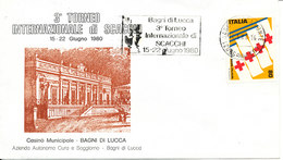 Italy Cover With Chess Postmark Bagni Di Lucca14-6-1980 And RED CROSS Stamp With Cachet - Chess