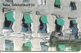 CARTE-PUCE-SUEDE-60-96/07- FENETRES IMMEUBLE  Avec STORES Vert-TBE - Suède
