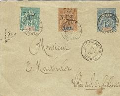 1898 - Enveloppe E P 15 C  + T P Taxes N°6 A Et 56  Taxe - Neukaledonien