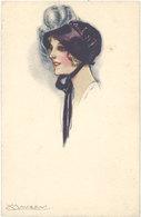 Cpa Illustrateur - Mauzan – Portrait De Femme - Mauzan, L.A.