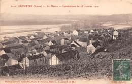 CROUTTES - La Marne - Inondations Du 25 Janvier 1910 - Other Municipalities