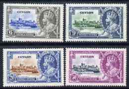 78206 Ceylon 1935 KG5 Silver Jubilee Set Of 4, Mounted Mint SG 379-82 (castles) - Ceylon (...-1947)