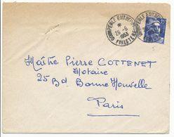 FINISTERE ENV 1953 QUIMPERLE ENTREPOT SUR GANDON - Marcophilie (Lettres)