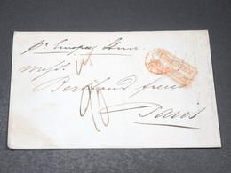 """FRANCE - Lettre Pour Paris En 1848 , Cachet Rouge """" Colonies Art. 13 """" - L 20642 - Marcophilie (Lettres)"""