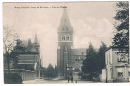 Bourg-Léopold - Vue Sur L'Eglise 1913 (2 Scan's) - Leopoldsburg