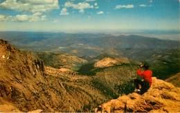 Etats-Unis - Colorado - View From Summit , Pikes Peak - Semi Moderne Petit Format - Bon état - Etats-Unis