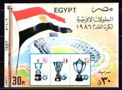 1987 EGYPT AFRICA FOOTBALL CUP WINNER EGYPT SOCCER SOUVENIR SHEET MICHEL: B43 MNH ** - Blocks & Sheetlets