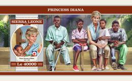SIERRA LEONE 2018 MNH** Red Cross Rotes Kreuz Croix Rouge Princess Diana S/S - OFFICIAL ISSUE - DH1817 - Rotes Kreuz