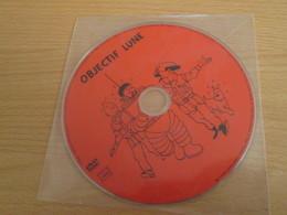 """TIN718 DVD Neuf (jamais Utilisé) DVD Rectificatif , La 1e Edition Présentant Un """"bug"""" : OBJECTIF LUNE - Hergé"""