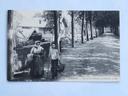 C.P.A. : 31 LUCHON : Avenue De L'Arboust Et La Scierie, Animé - Luchon