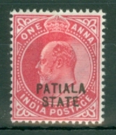 India - Patiala: 1903/06   QV 'Patiala State' OVPT  SG38    1a    MH - Patiala