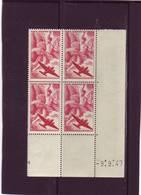 PA 17 - 50F IRIS - 3° Tirage Du 25.8.47 Au 9.9.47 - 9.9.1947 - Teinte Rouge-sang - - Dated Corners