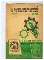 25em SALON INTERNATIONAL DE LA MACHINE AGRICOLE 10 - 15 MARS 1953 PARIS - Advertising