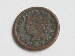1 Cent 1851 Braided Hair Cent - United States Of AMERICA - Etats-unis - USA  *** EN ACHAT IMMEDIAT  *** - Emissioni Federali
