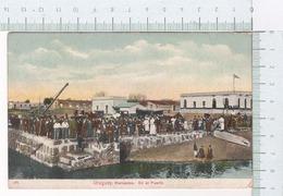 Uruguay ~ Mercedes ~ En El Puerto ~ 1913 ~ Cromolitográfico ~ Chromolithographie ~ Chromolithographique ~ Locomotora - Uruguay