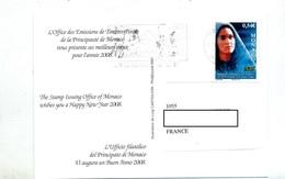 Carte Voeux Flamme Voeux Sur Soubirous Vue Portrait - Marcophilie - EMA (Empreintes Machines)