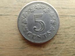 Malte  5  Cents  1972  Km 10 - Malte
