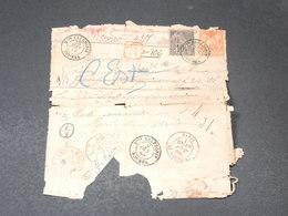 NOUVELLE CALÉDONIE - Lettre  En Recommandé De Nouméa Pour Paris En 1888 - L 20672 - Nueva Caledonia