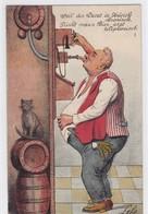 Bier / Bière / Birra / Cerveza / Beer. Humor / Humour. Durst In Zürich. Sign. Leho?'? - Cartes Postales