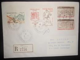 Andorre Français Lettre Recommandee De Sant Julia De Loria 1985 Pour Marseille - Covers & Documents