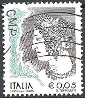 Italia, 2003 La Donna Nell'Arte, I.P.Z.S. SpA. Roma €. 0.05 Policromo # Michel 2817 - Scott 2440 - Sassone 2724 - Usato - 6. 1946-.. Repubblica