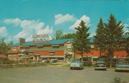 Ste Adèle Nord Laurentides Québec - Chatel Boisé Hotel - Cars Voitures - Stamp + Postmark 1968  - 2 Scans - Quebec