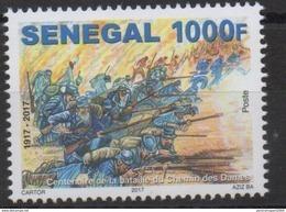 Sénégal 2017 Mi. ? Centenaire Bataille Du Chemin Des Dames Première Guerre Mondiale Erster Weltkrieg World War One ** - Sénégal (1960-...)