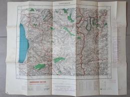 Carte Topographique De CHATEAULIN: 50 000ème: 1952 - Cartes Topographiques