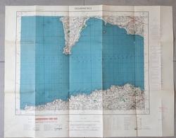Carte Topographique De DOUARNENEZ: 50 000ème: 1952 - Cartes Topographiques
