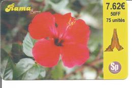 Télécarte De FRANCE Prépayée - HIBISCUS ( Rama Rama Expiration 12/2002 - 50 Fr. ) - Flowers