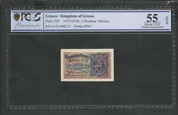 Drachmae  1/27.10.1917 PCGS 55 0PQ (Original Paper Quality!)  AUNC! - Griekenland