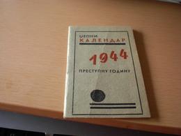 1944 Dzepni Kalendar Stovariste Piva Lazar Dundjerski - Calendars